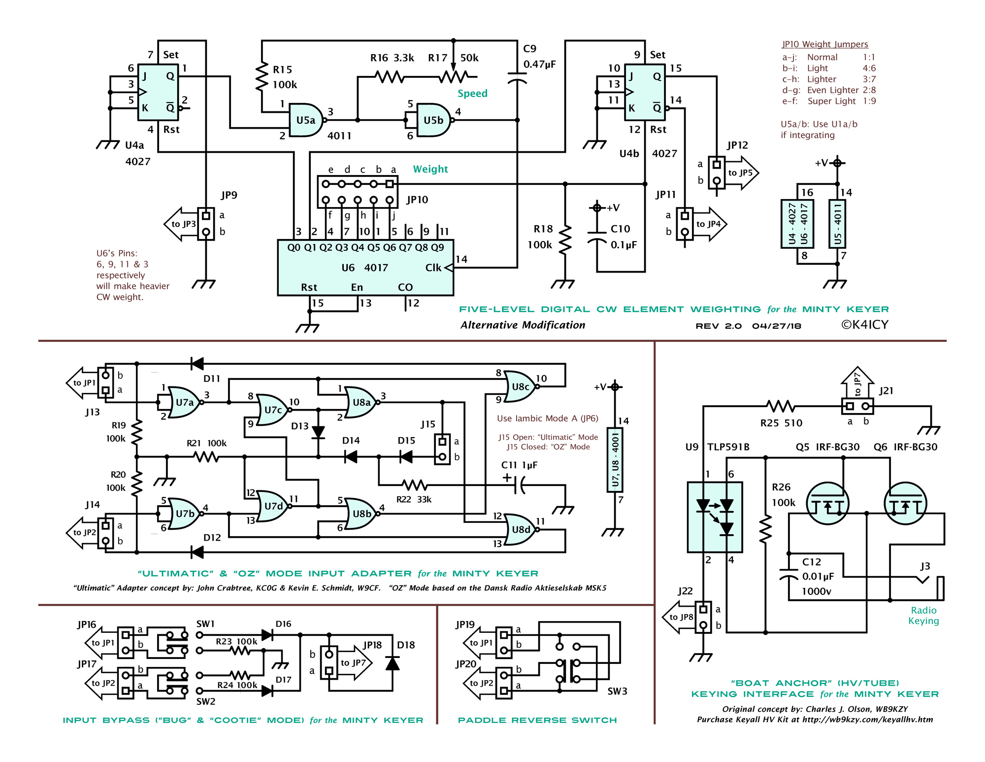 Iambic Keyer Circuit K4icy Minty 3 Ic Electronic Cw Diagrams Of Circuits Cmos With Rc Timing Schematic