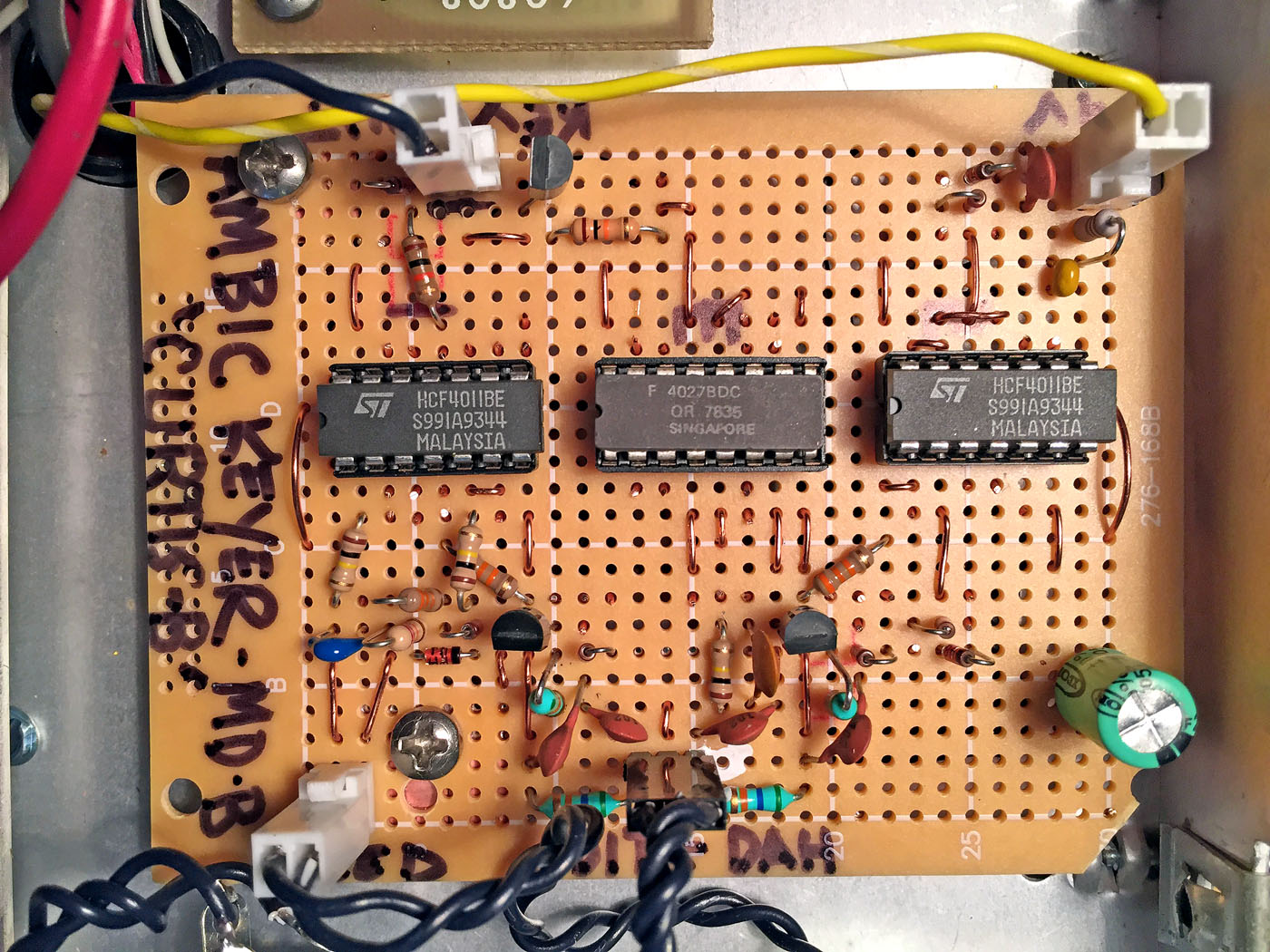 Iambic Keyer Circuit K4icy Minty 3 Ic Electronic Cw Integrated Looks Like A Bug Kool By Mike