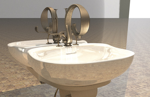 Render of sink concept