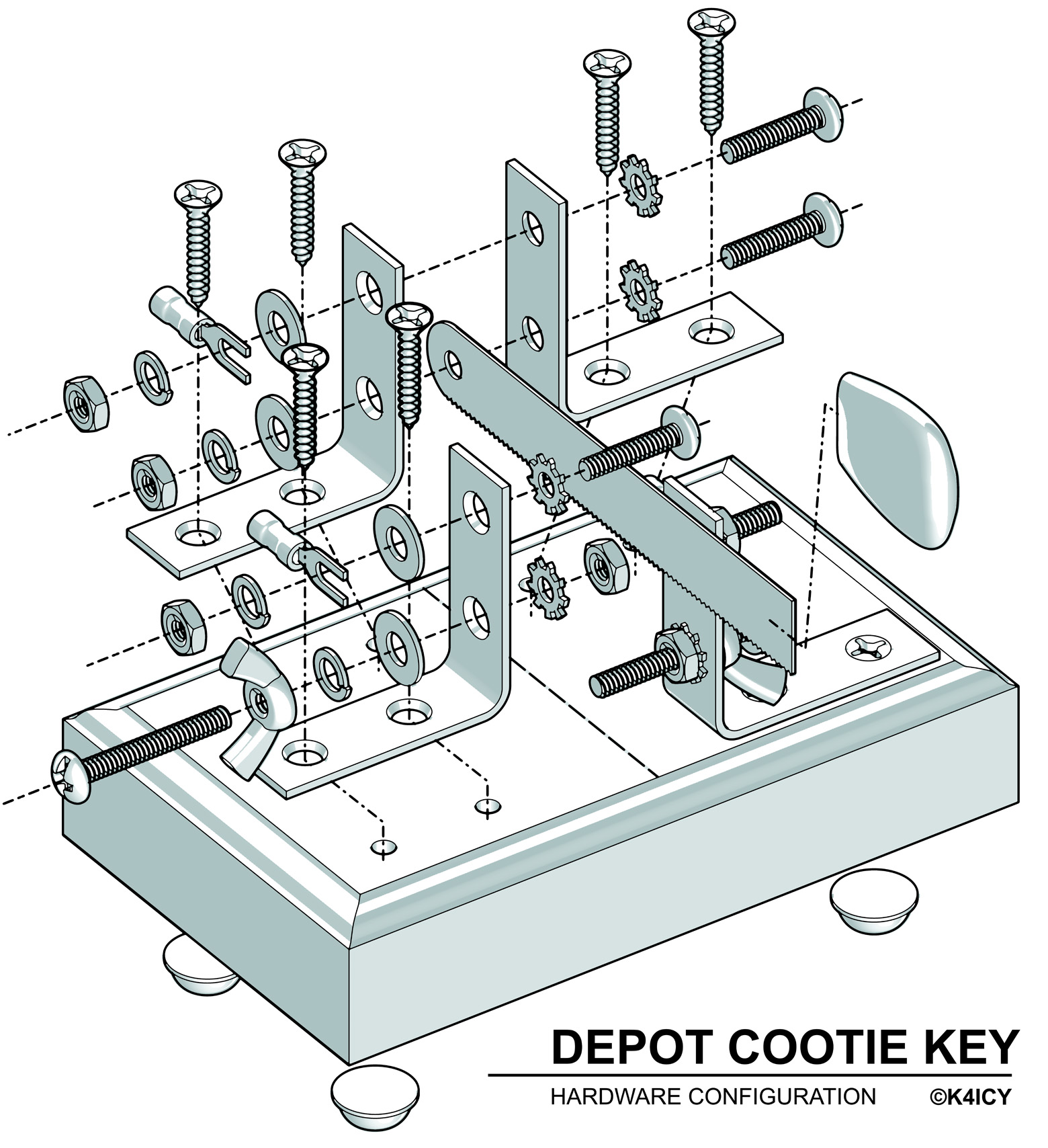 Explded View of Depot Cootie