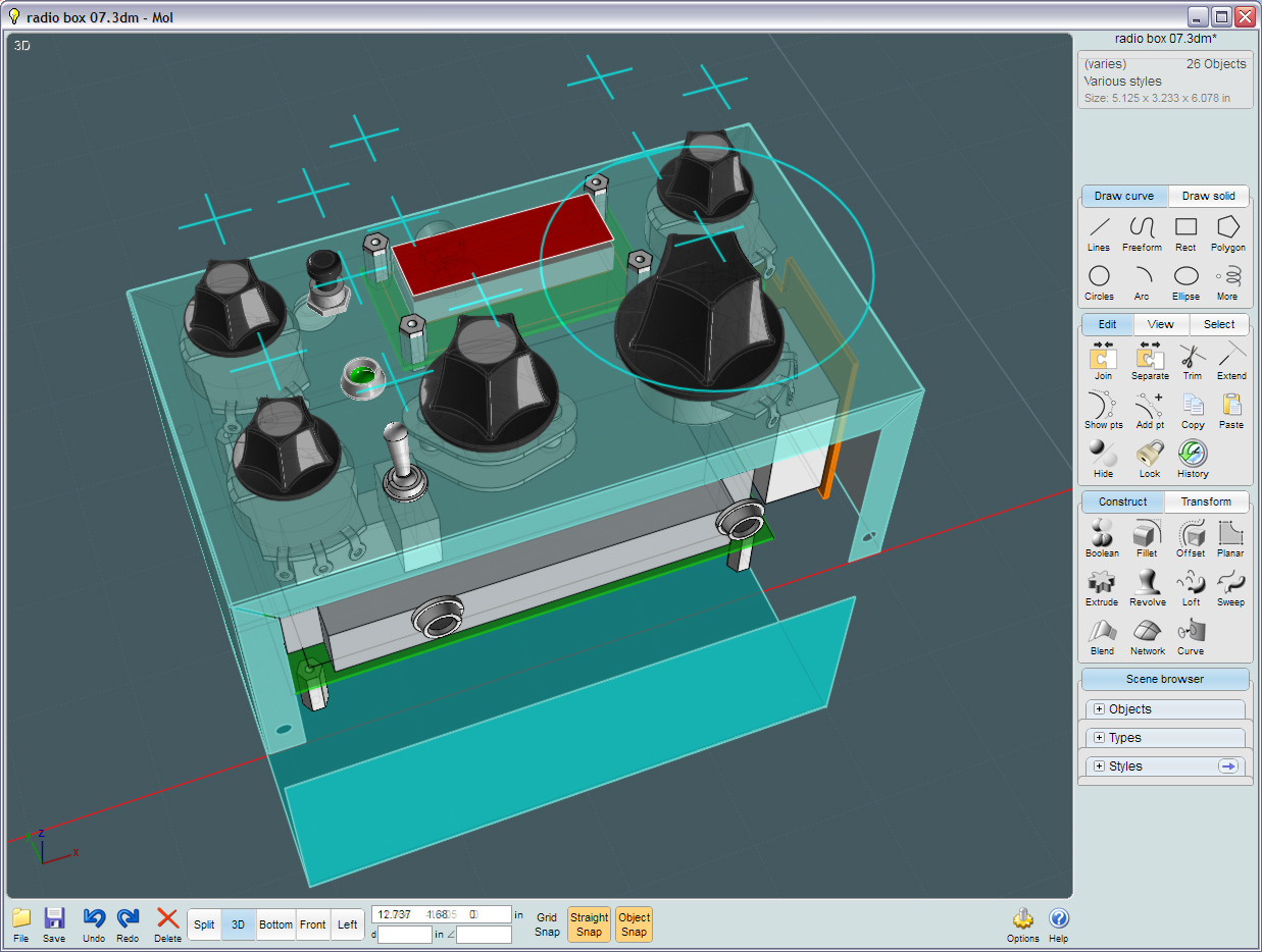 Component Placement with MoI 3D