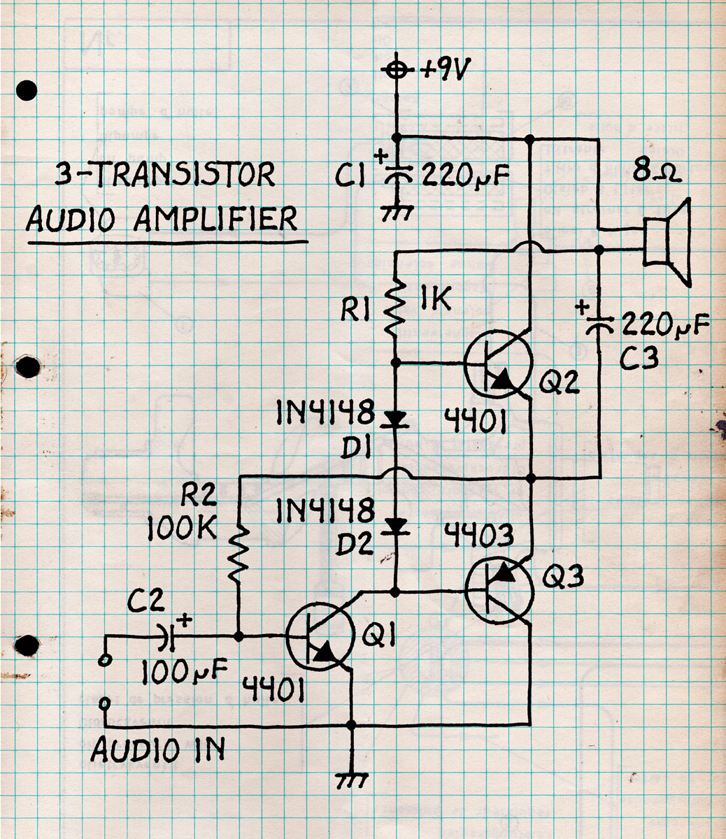 3-Transistor Audio Amplifier